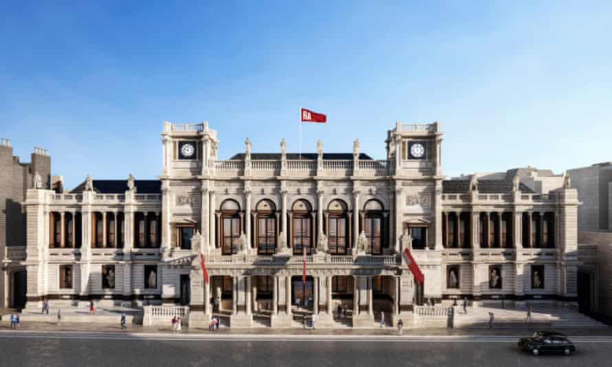 An artist's impression of how the restored facade of the Royal Academy's Burlington Gardens building will look.