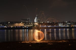 St Pauls and fireSometimes the most fun to be had is with some steel wool, a bunch of friends and a camera - and with a backdrop like this!