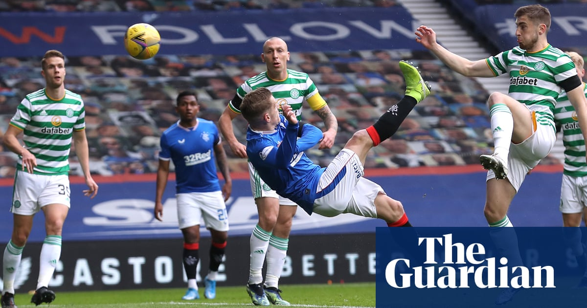 Davis overhead kick helps Rangers knock Celtic out of Scottish Cup