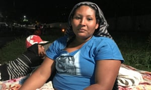 Rosa Yolanda López, a mother of seven, is fleeing Honduras with her eldest son,12, after her husband was killed last year.