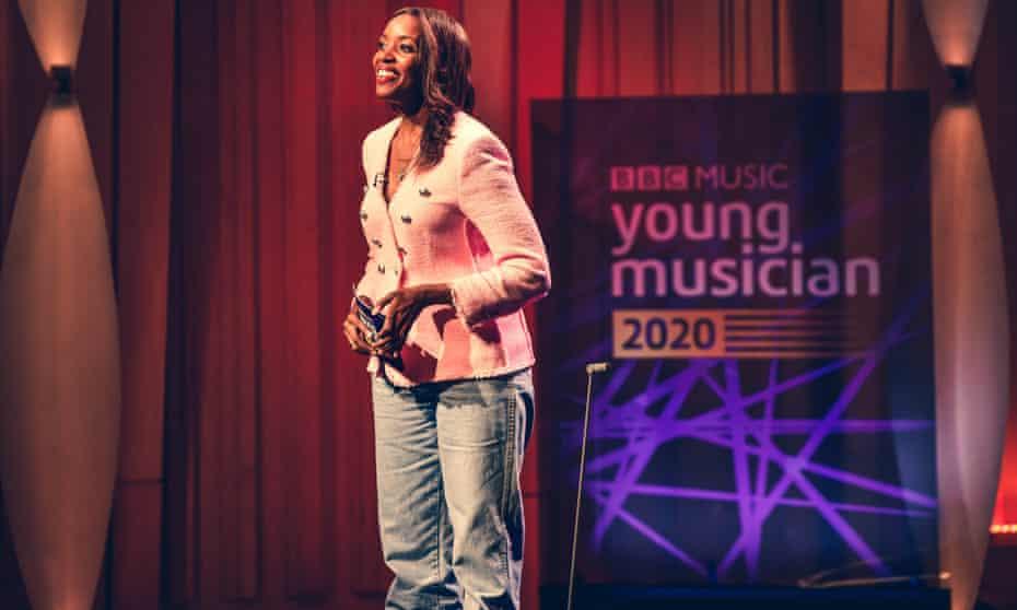 Presenter Josie d'Arby ... BBC Young Musician 2020.