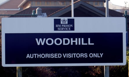 A sign for HMP Woodhill