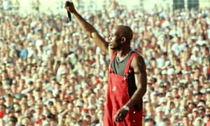 Proving rappers could be rock stars, too … DMX at Woodstock '99.