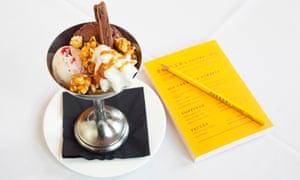 The ice-cream sundae at Parker's Tavern in Cambridge.