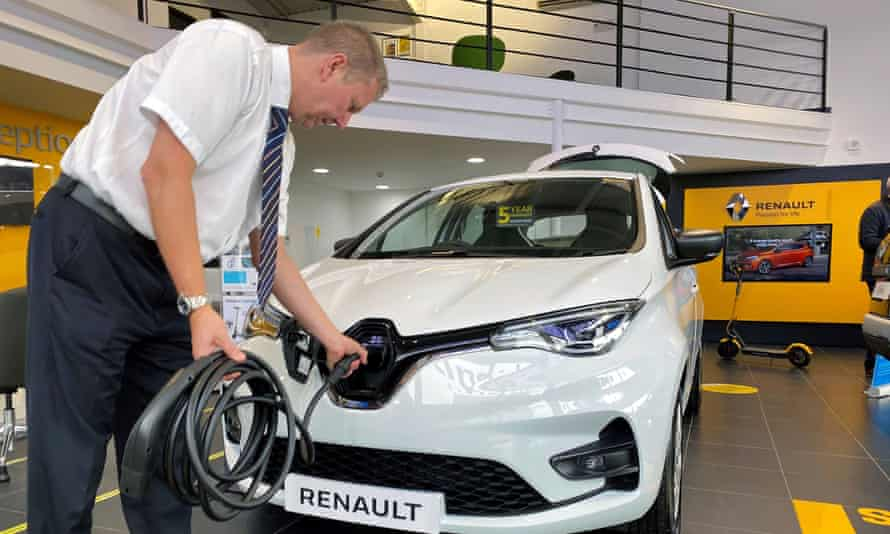 Renault's electric Zoe model can be on the driveway at home from £389 a month.