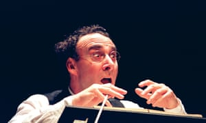 Antony Sher as the composer Mahler in Harwood's play Mahler's Conversion at the Aldwych, London, in 2001.