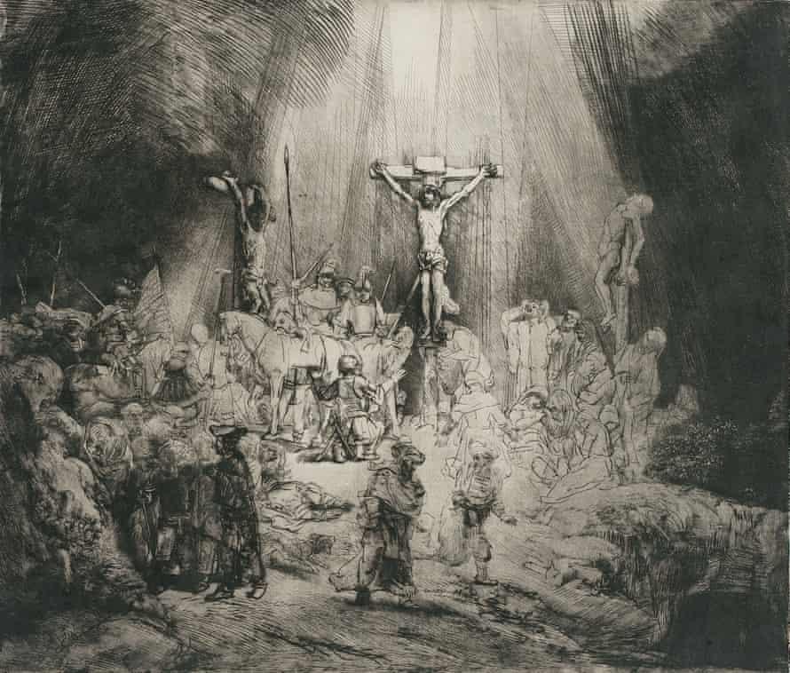 Rembrandt's The Three Crosses, c. 1653.