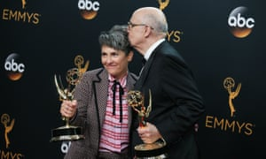 Jill Soloway and Jeffrey Tambor, who both won awards for Transparent