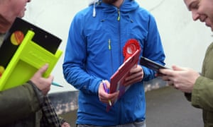 Labour members canvassing in Lewisham East during the recent local council byelections.