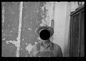 Untitled photo by Russell Lee, possibly related to Mr Tronson, farmer near Wheelock, North Dakota, August 1937. From Killed Negatives, Whitechapel Gallery, London.