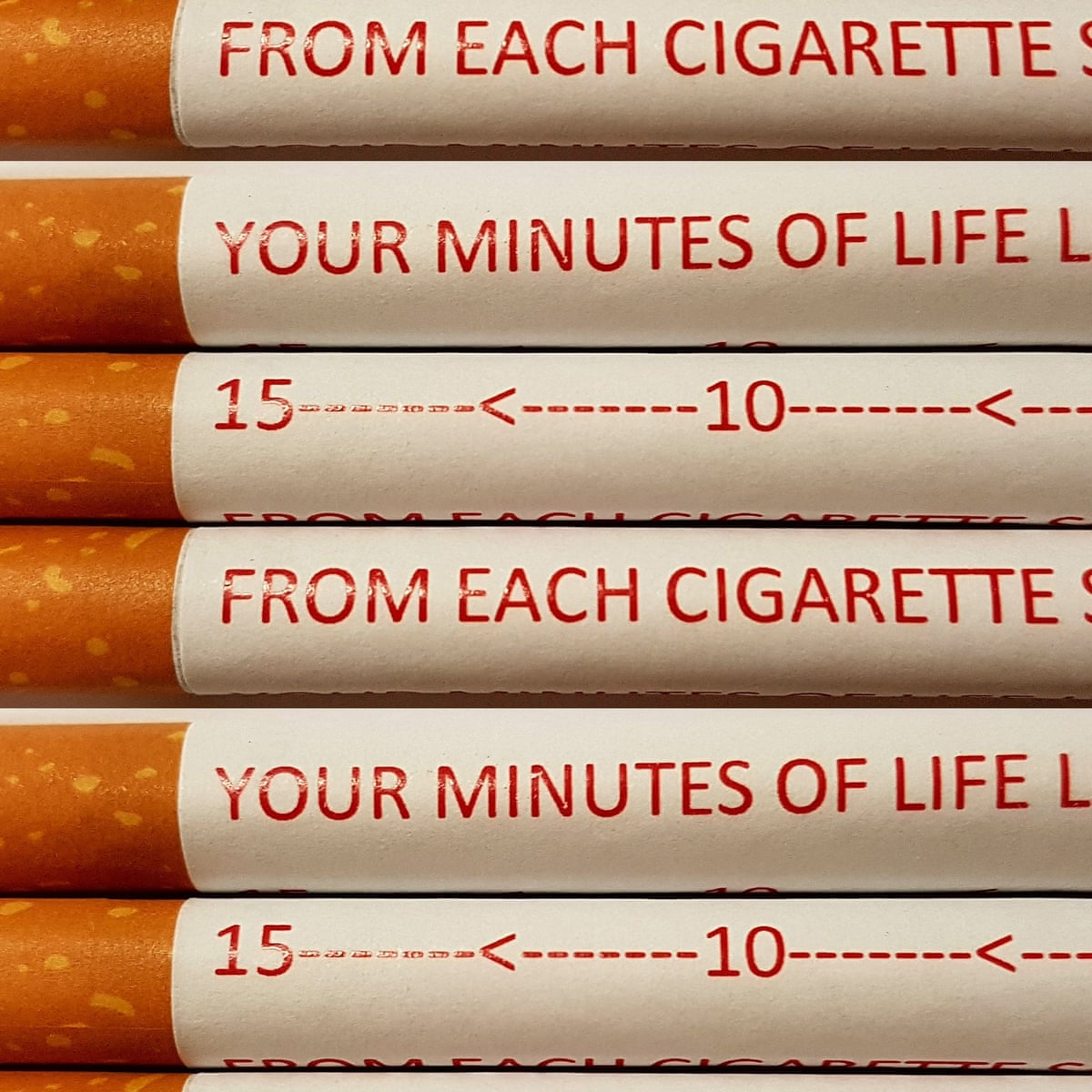 Next Level Health Campaign Warnings On Individual Cigarettes To