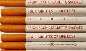 Cigarettes with health warnings