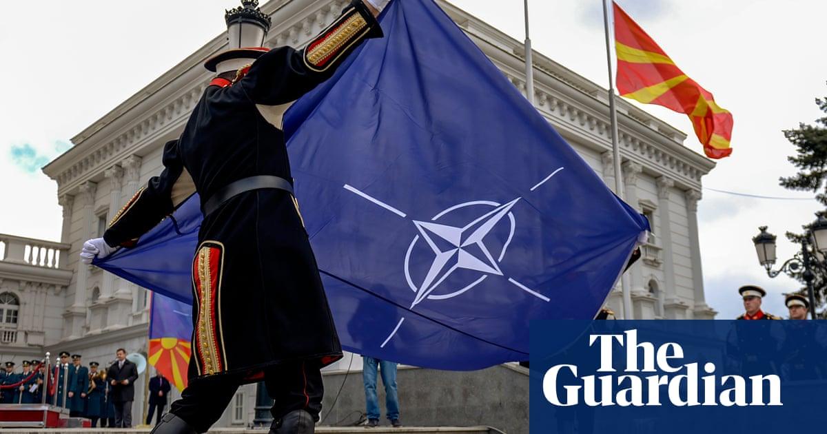 Nato flag raised before North Macedonia's prospective accession