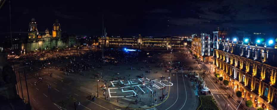 Mexico City's main square, the Zócalo, is daubed with three huge words: 'It was the state'