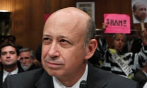 Lloyd Blankfein, pictured giving evidence to a US senate committee hearing earlier this year.