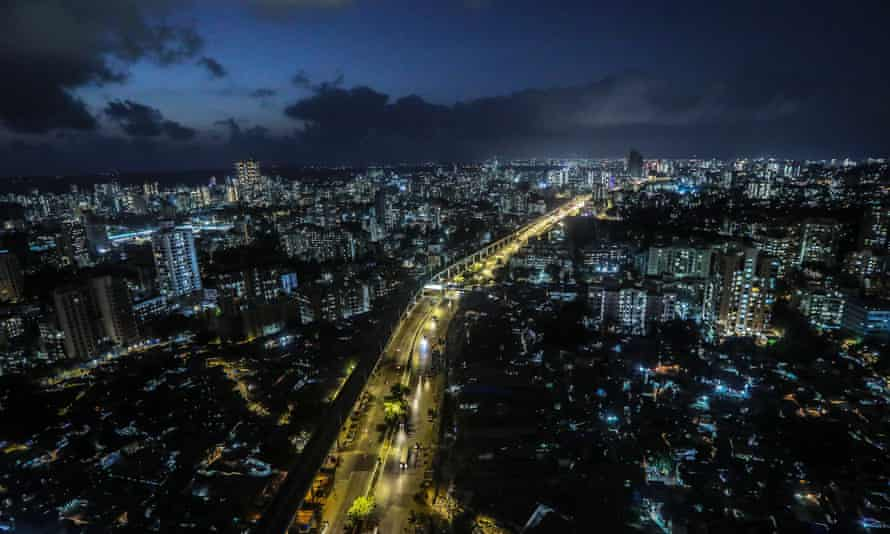 An aerial view of Mumbai