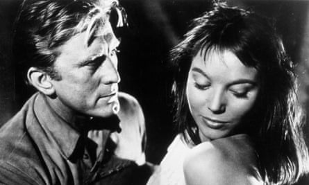 Elsa Martinelli with Kirk Douglas in the western The Indian Fighter, 1955.