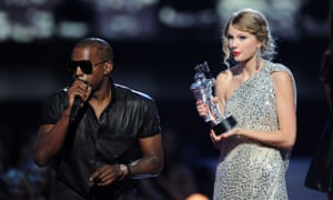'Imma let you finish but Beyoncé had one of the best videos of all time' ... Kanye West takes the microphone from Taylor Swift at the 2009 MTV Video Music awards.