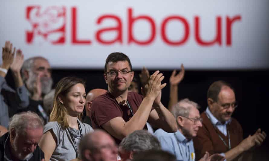 People applauding a speech at Labour's 2016 party conference.