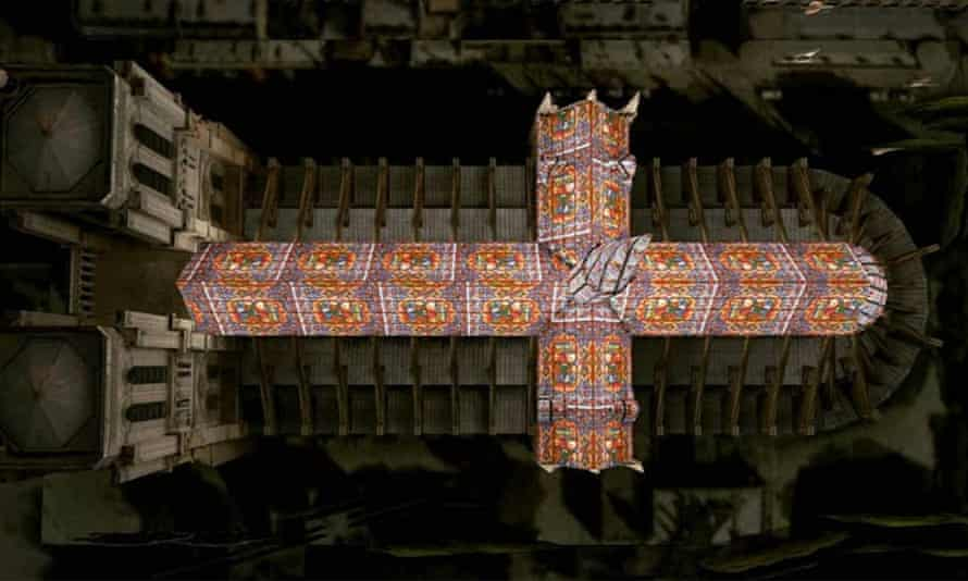 Proposals for a stained glass roof and spire from Alexandre Fantozzi
