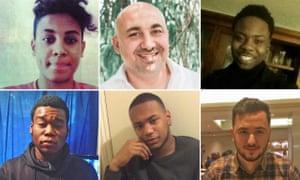 (L-R) clockwise: Sabri Chibani, Bulent Kabala, Rotimi Oshibanjo, Jozef Boci, Lewis Blackman and Promise Nkenda.