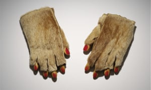 Fur Gloves With Wooden Fingers by Méret Oppenheim, 1936.