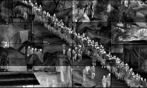 Richard Mosse's Grid (Moria), from the series Heat Maps.