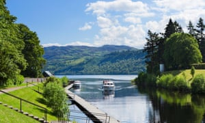 Loch and load: the view from Fort Augustus down the Caledonian Canal towards Loch Ness.