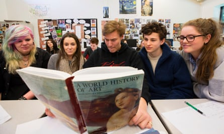 AS-level art history students at Godalming college, Surrey.