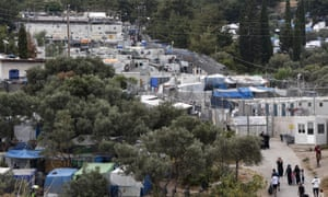 The refugee camp in Samos