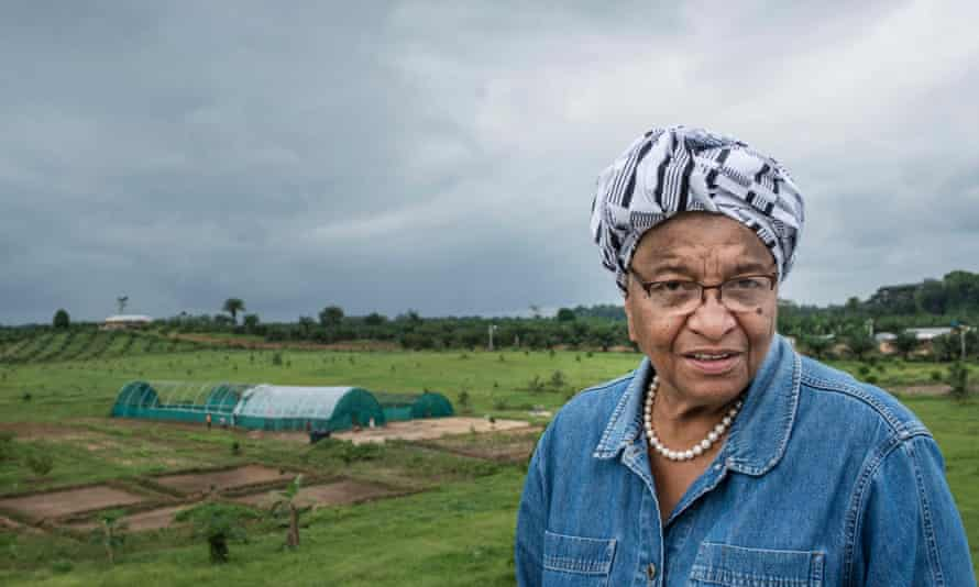 'This is where I grew up'. Ellen Johnson Sirleaf in the Liberian countryside.