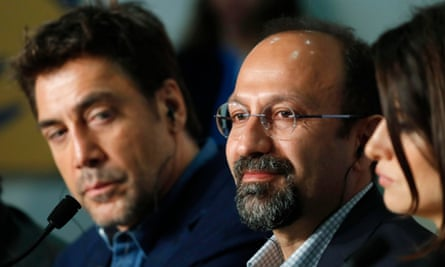 Asghar Farhadi at the Cannes press conference for Everybody Knows