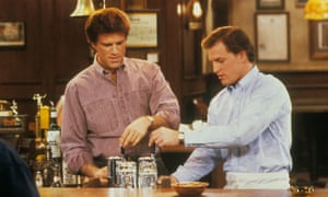 Early days: starring with Ted Danson in Cheers.