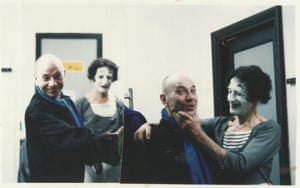 With Marcel Marceau backstage at Sadler's Wells in the 1980s