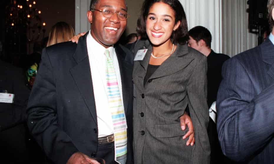 Broadcaster and anti-racism campaigner Trevor Phillips with his daughter Sushila.