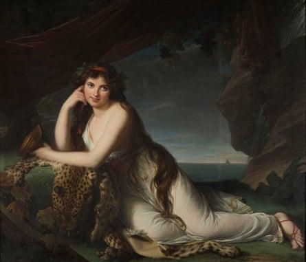 Emma Hamilton as Bacchante, by Louise Élisabeth Vigée le Brun