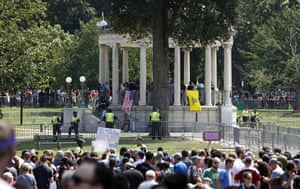The rightwing Boston Free Speech rally, dwarfed by the massive counter-protests.