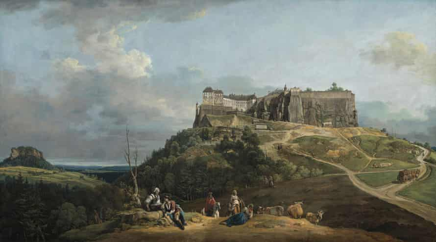 The Fortress of Königstein from the North-West (1756–8) by Bernardo Bellotto.