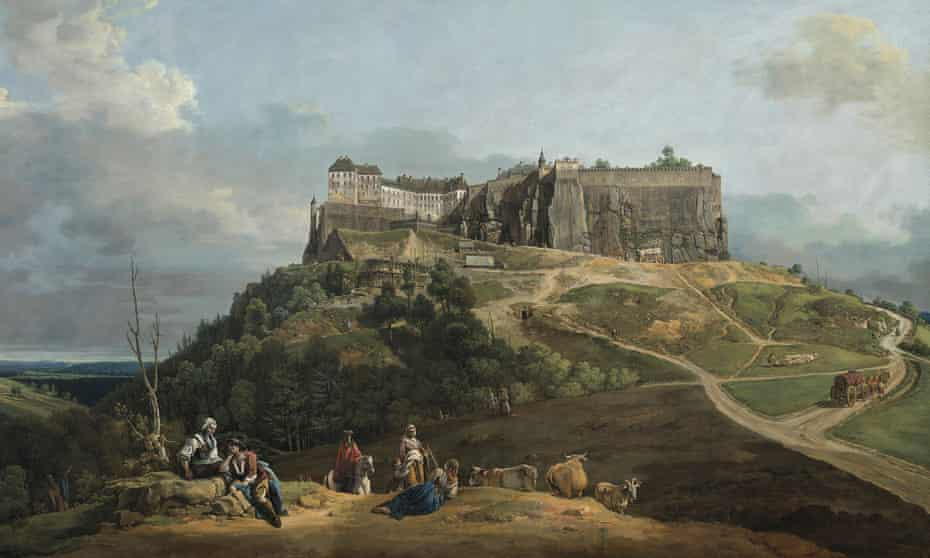 Hulking … The Fortress of Königstein from the North-West, by Bernardo Bellotto.