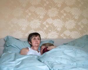Mum and I in bed