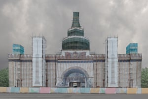"""Kunststück, by Pegova Olya, taken in Russia: """"In the past, faux facades were rare and temporary interventions in urban spaces, but today they have become a part of the city landscape."""""""