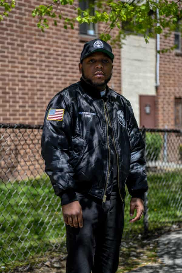 Department of Public Works Commissioner, Damani Bush, 32, poses for a portrait on the 3rd Street corridor in south Mount Vernon, New York on Monday, April 26, 2021.