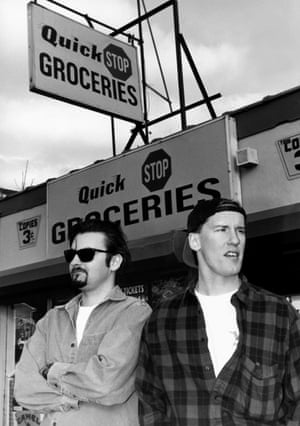 Brian O'Halloran and Jeff Anderson in Kevin Smith's 1994 film Clerks.