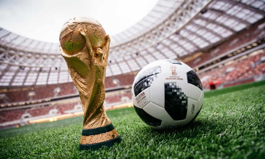 Adidas's official 2018 World Cup ball. It has supplied the tournament's ball since 1970.