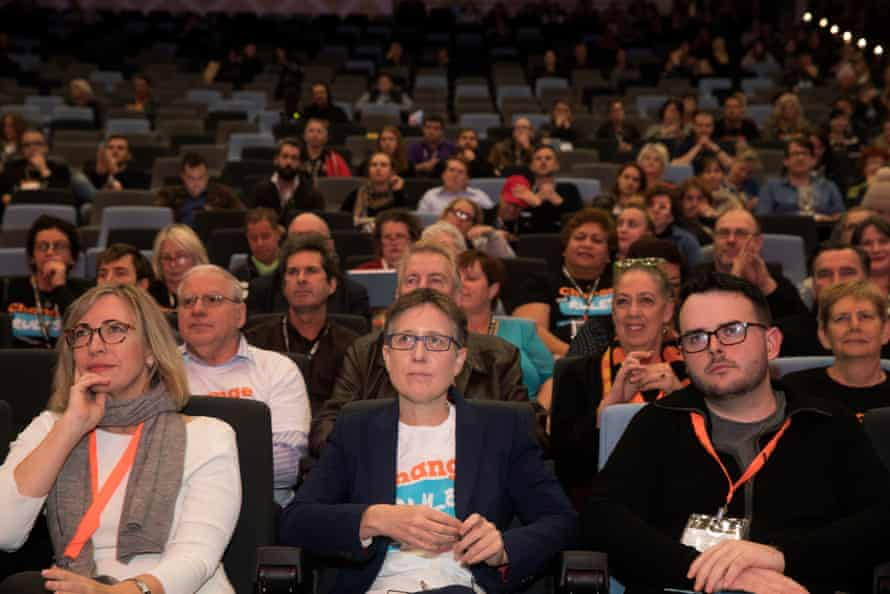 Sally McManus at the Australian Council of Trade Unions' Nex Gen 17 conference in Sydney.