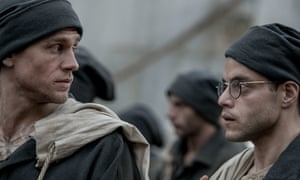 Hard time: Charlie Hunnam (left) and Rami Malek in Papillon.