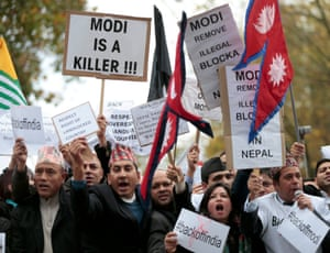 Demonstrators have raised concerns over human rights issues in India.