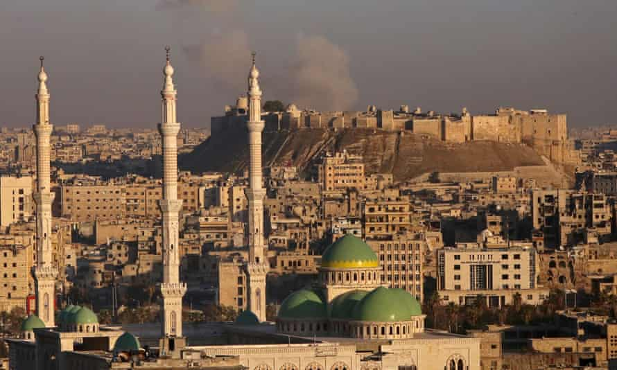 Smoke over Aleppo during fighting between Syrian regime forces and rebel fighters earlier this month.