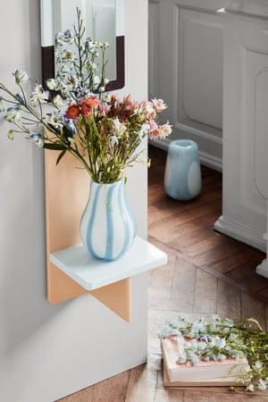 From left, Ada Stripe vase, £40, and Asa Dot vase £75, both by Broste Copenhagen at Amara.com
