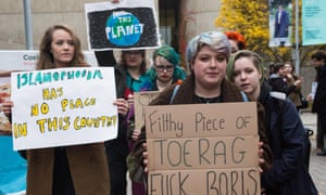 Activists from Fck Boris